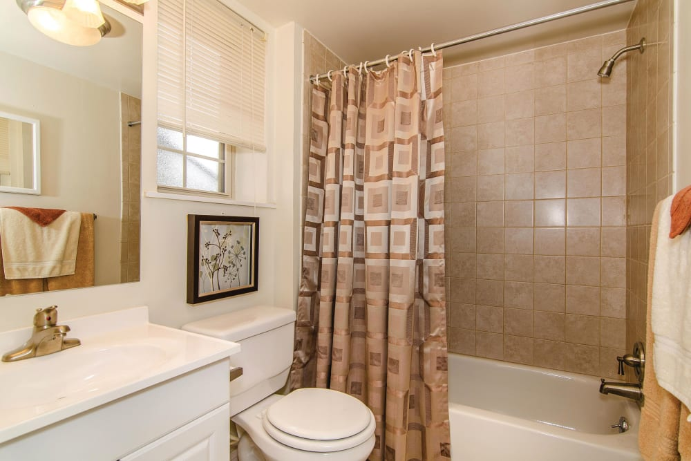 Bathroom at Ridley Brook Apartments in Folsom, Pennsylvania