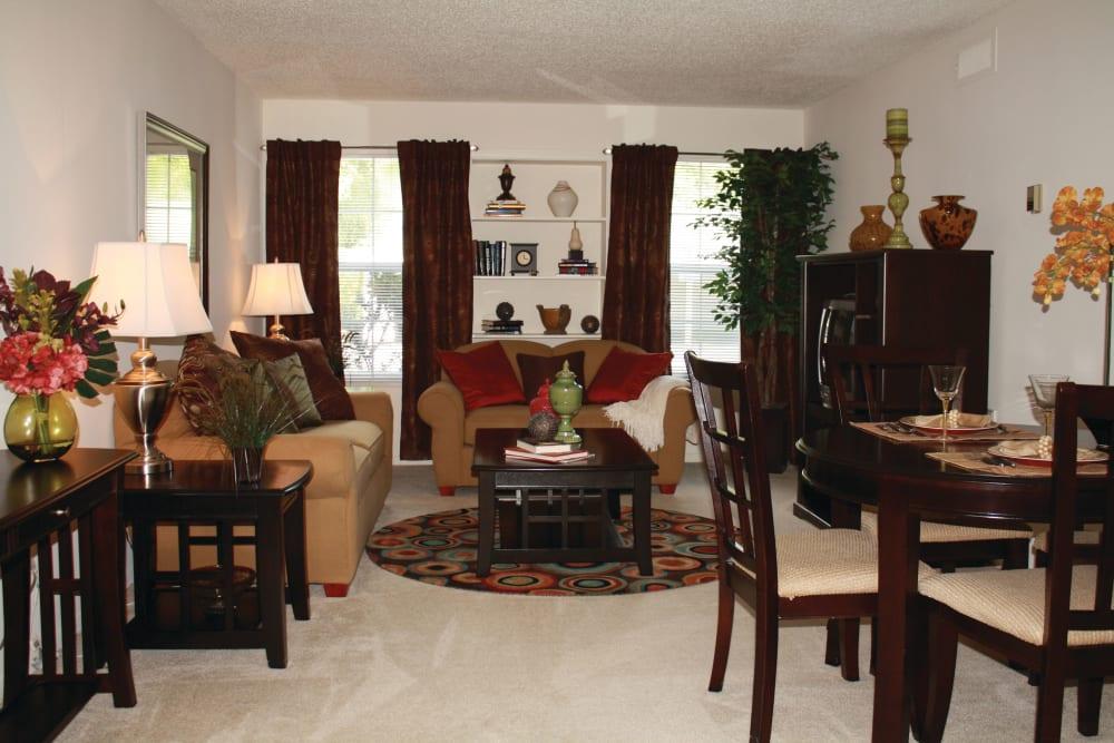 Living room at The Commons At Haynes Farm in Shrewsbury, Massachusetts