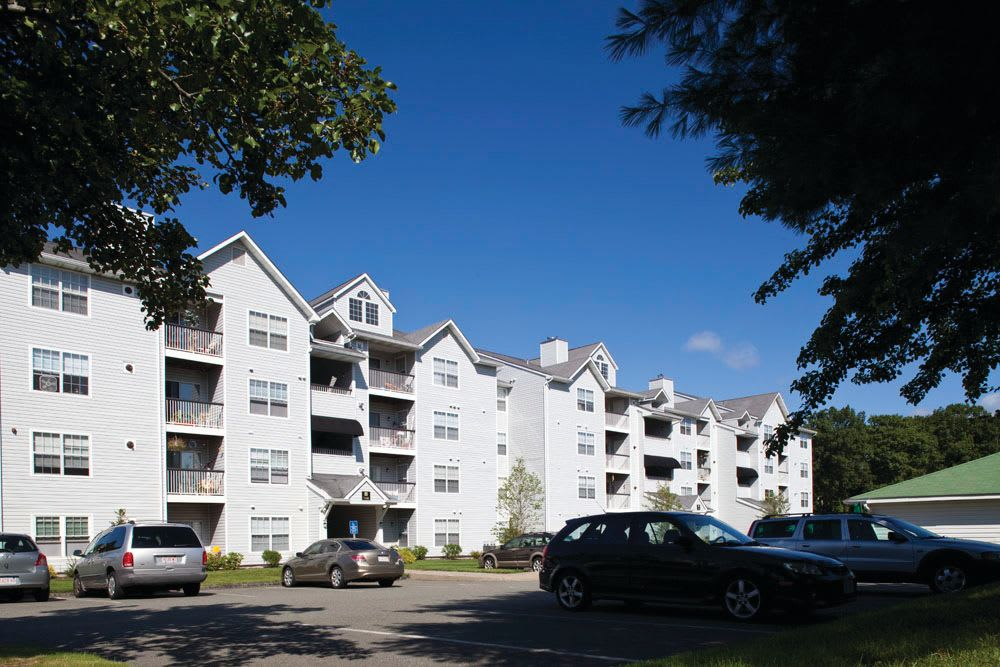Exterior image of apartments at The Commons At Haynes Farm in Shrewsbury, Massachusetts