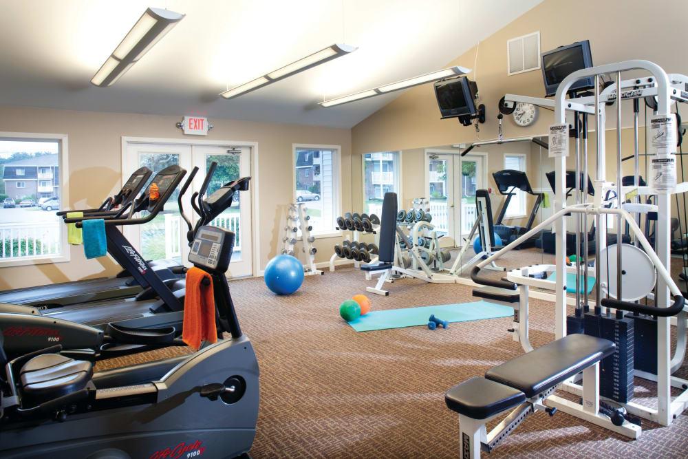 Fitness center at Stone Ends in Stoughton, Massachusetts