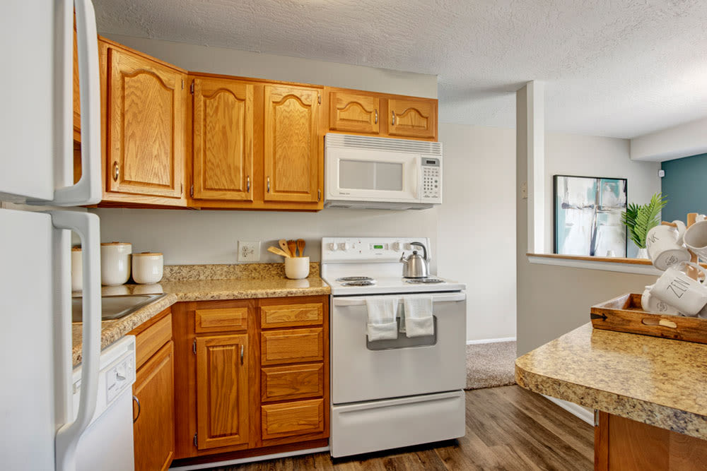 Country Village Apartments offers a Kitchen in Bel Air, Maryland