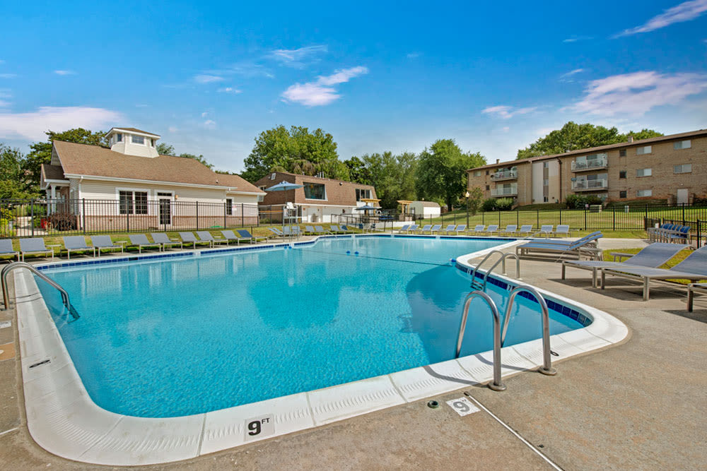 Swimming Pool at Country Village Apartments in Bel Air, Maryland
