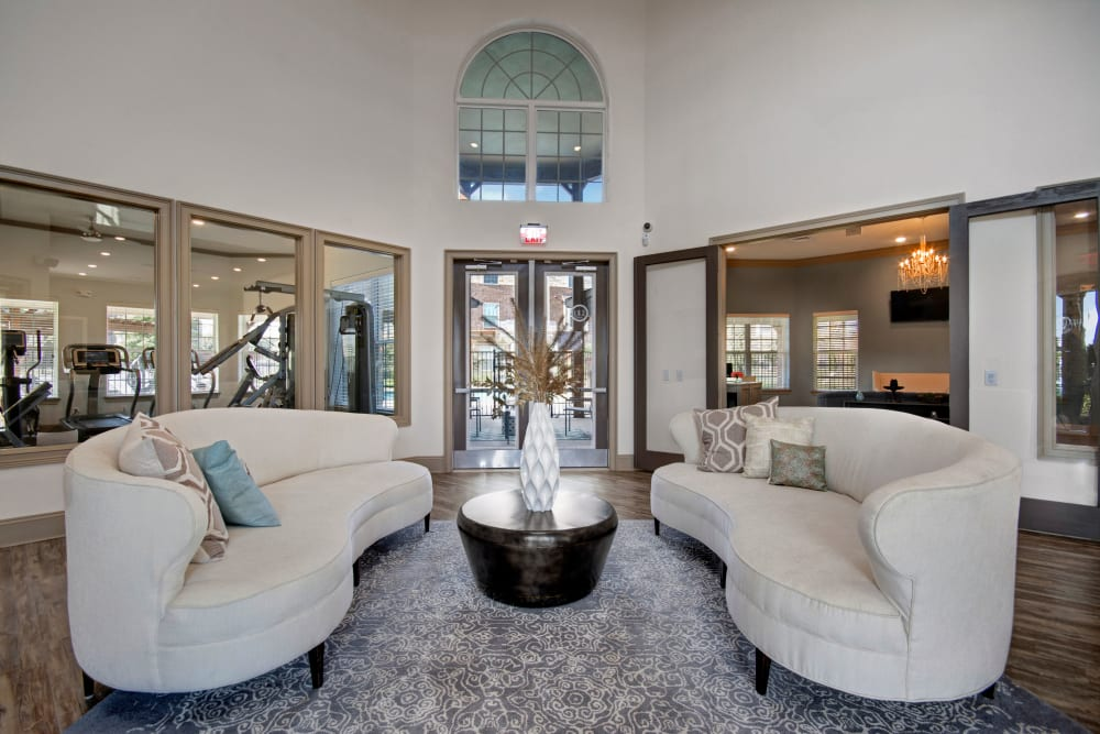 Stylish clubhouse Interior at Creekside South in Wylie, Texas