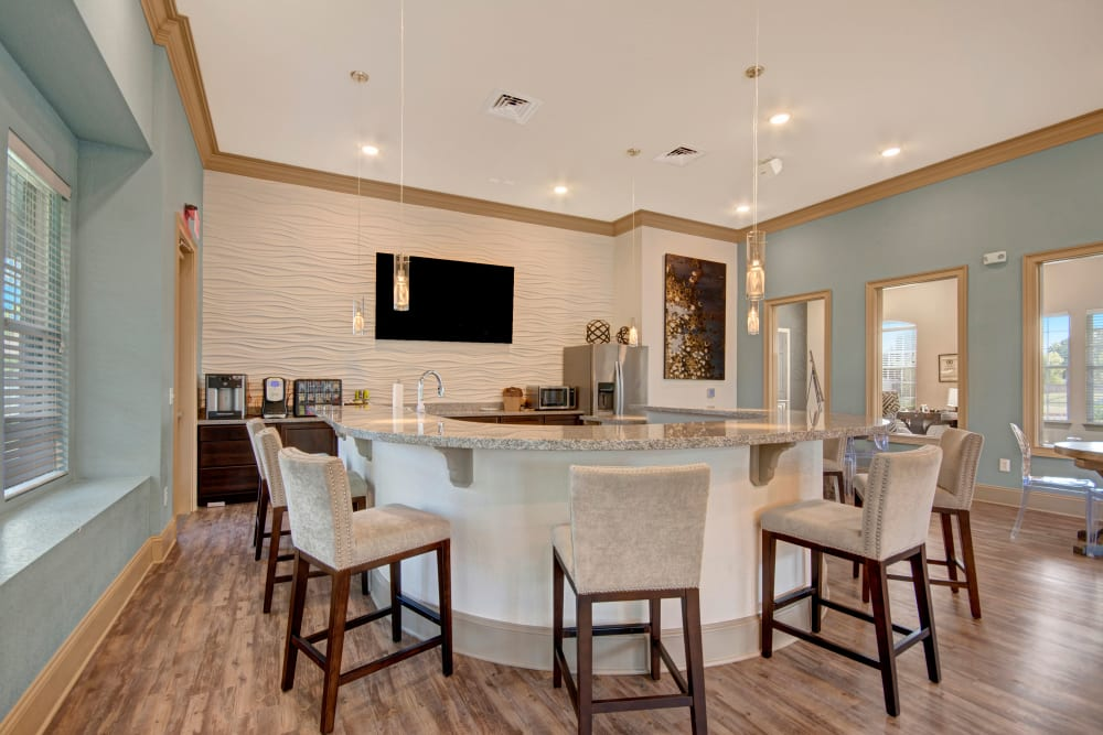 Counter seating in clubhouse at Creekside South in Wylie, Texas
