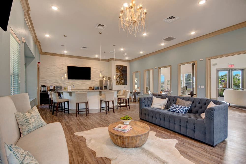 Clubhouse interior at Creekside South in Wylie, Texas