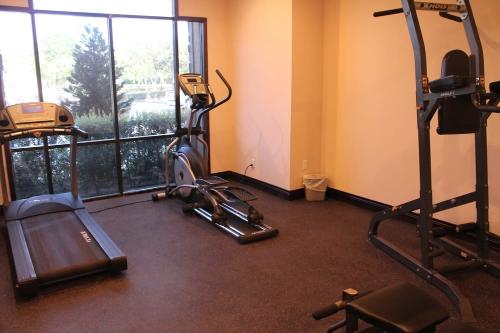Fitness center at The Reserve at Windmill Lakes in Houston, Texas