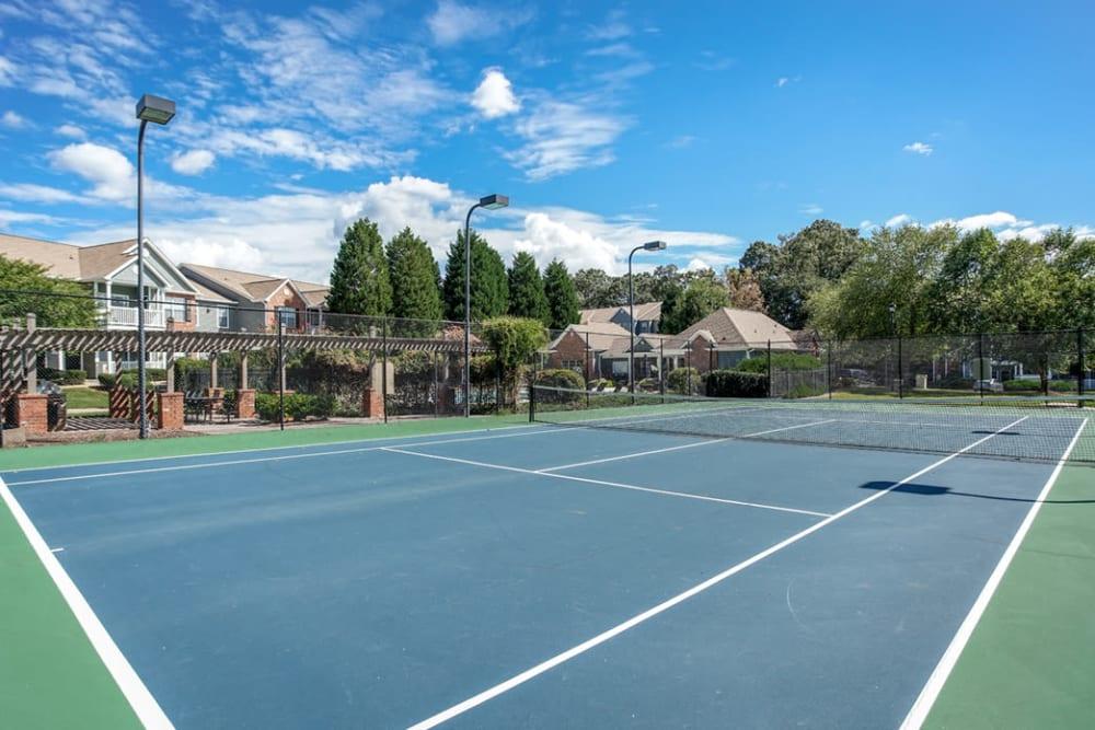 Community tennis courts at Eastwood Village in Stockbridge, Georgia