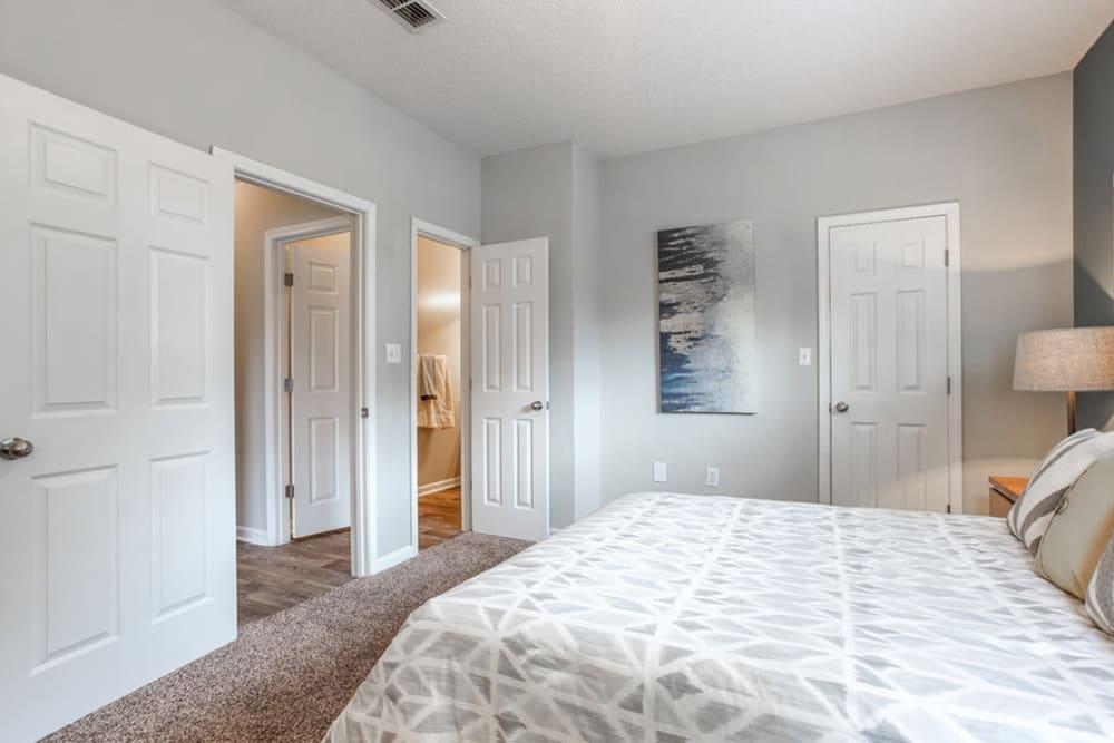 Closet view in bedroom at Peachtree Landing in Fairburn, Georgia