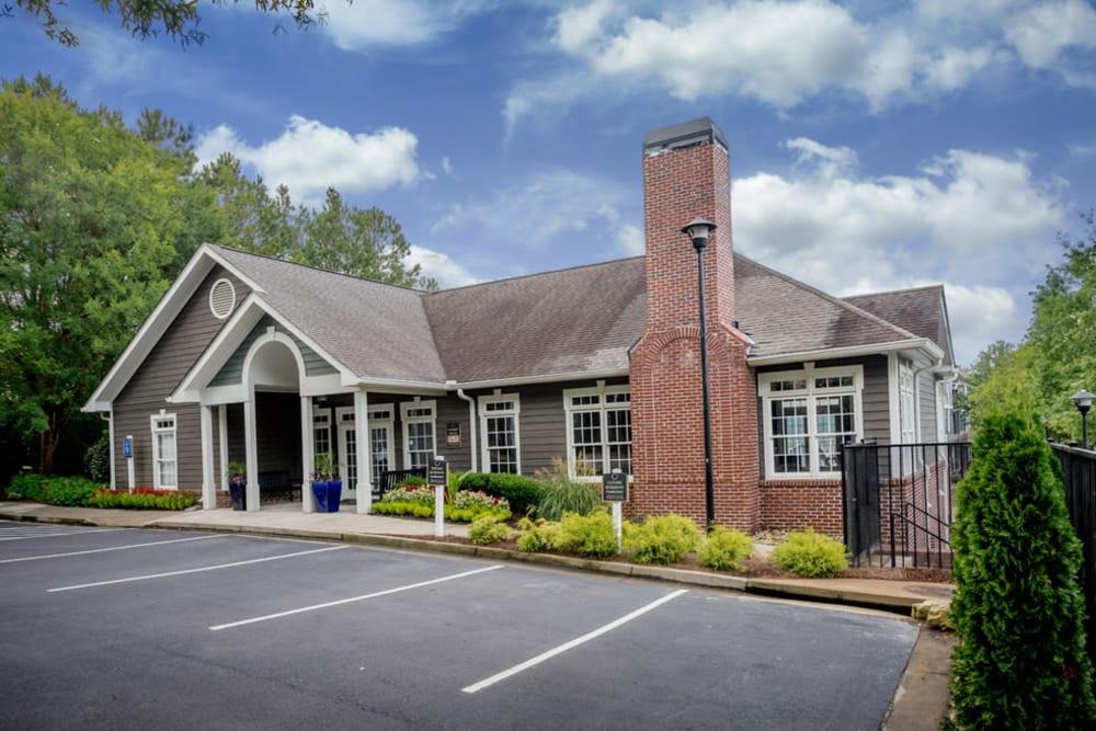 Leasing office exterior at Peachtree Landing in Fairburn, Georgia
