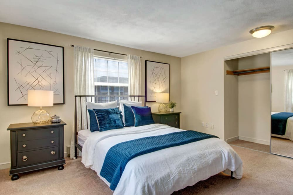 Spacious bedroom at Gardencrest in Waltham, Massachusetts