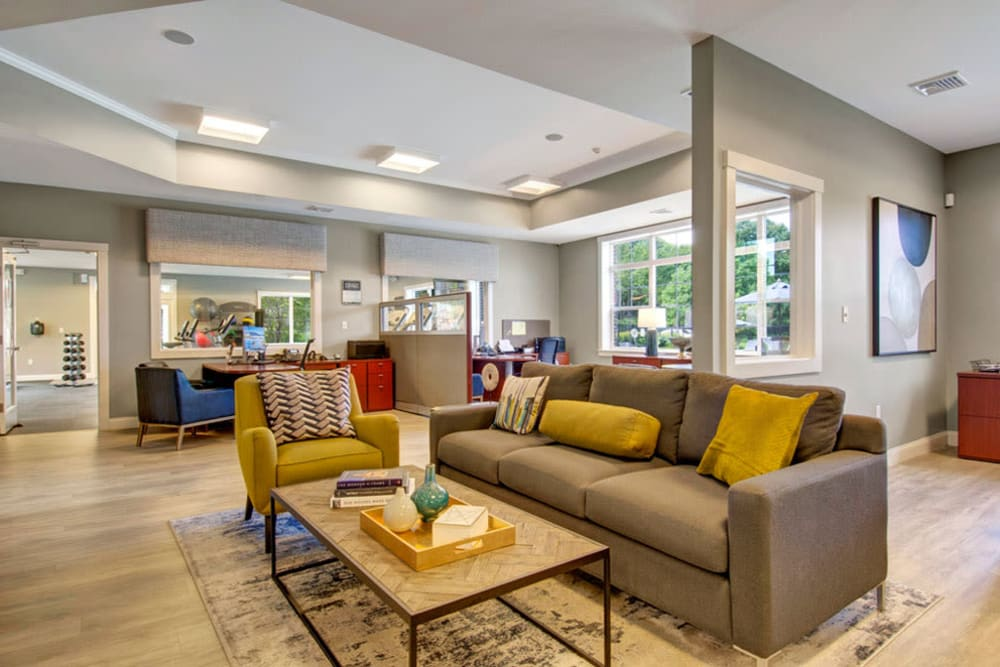 Clubhouse interior at Gardencrest in Waltham, Massachusetts