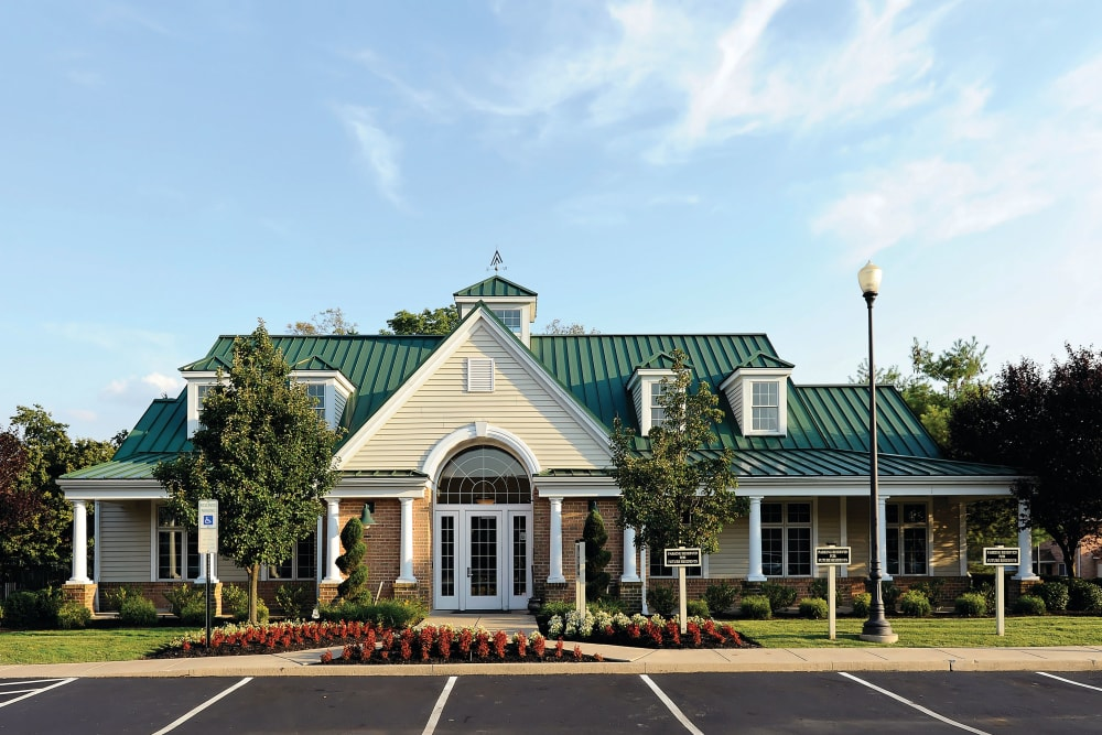 Community clubhouse and leasing office at Golf Club Apartments in West Chester, Pennsylvania