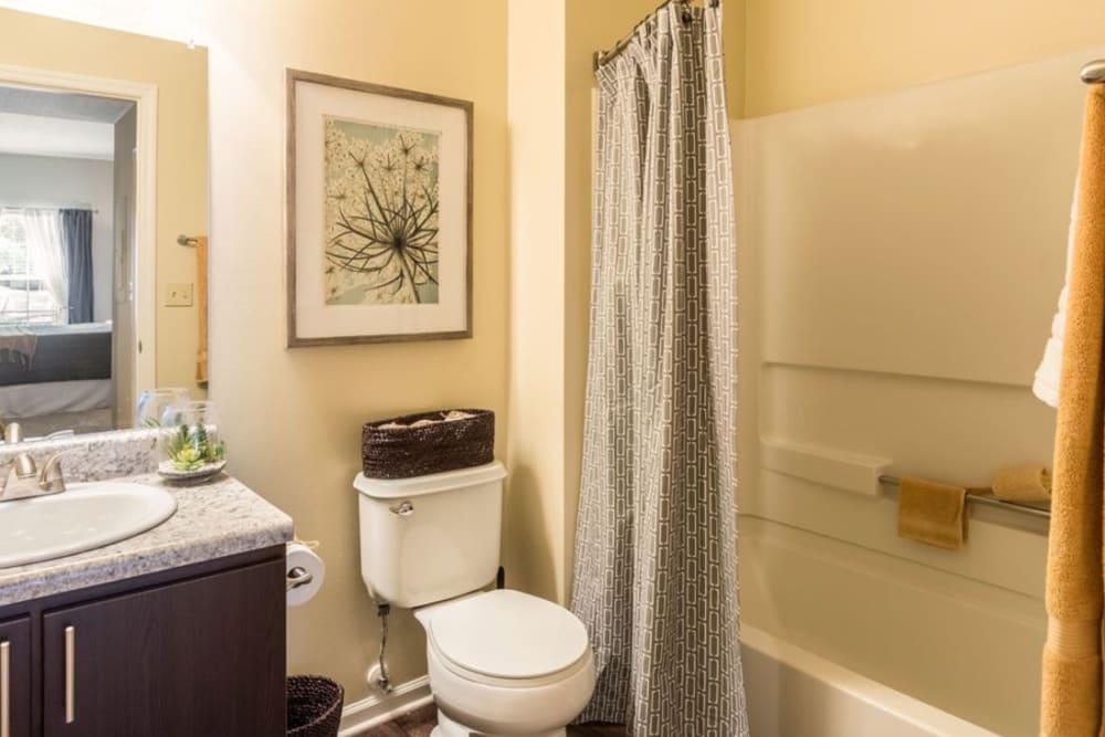 Our Spacious Apartments in Hilliard, Ohio showcase a Bathroom