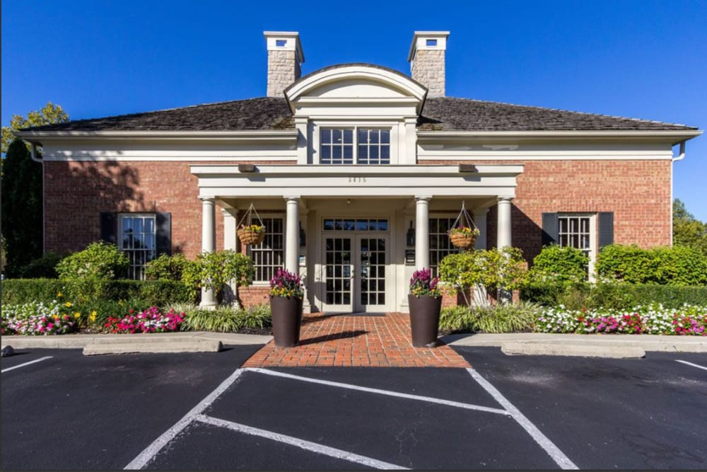 Leasing office entrance at Heritage Green in Hilliard, Ohio