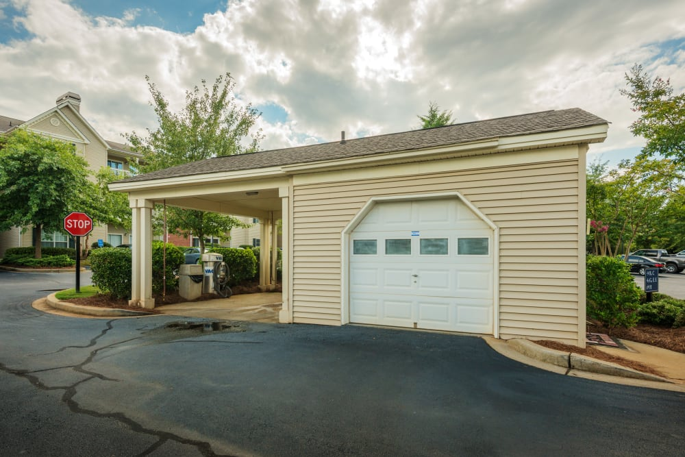 Secure garage parking at Heritage Green in Hilliard, Ohio