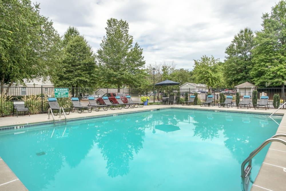 Large outdoor swimming pool at Hidden Creek in Morrow, Georgia