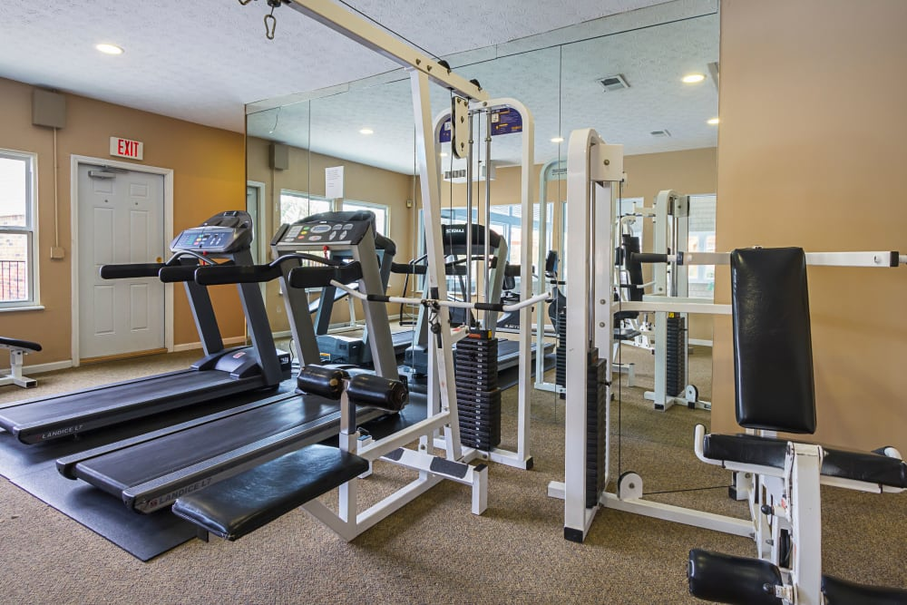 Fitness equipment at Hickory Creek in Columbus, Ohio
