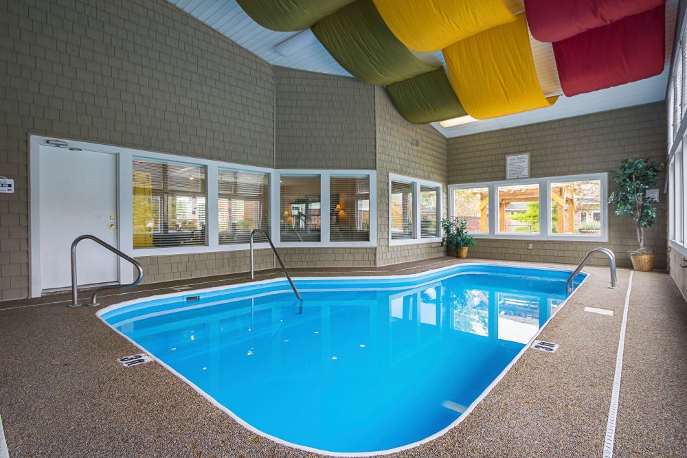 Indoor community swimming pool at Hickory Creek in Columbus, Ohio