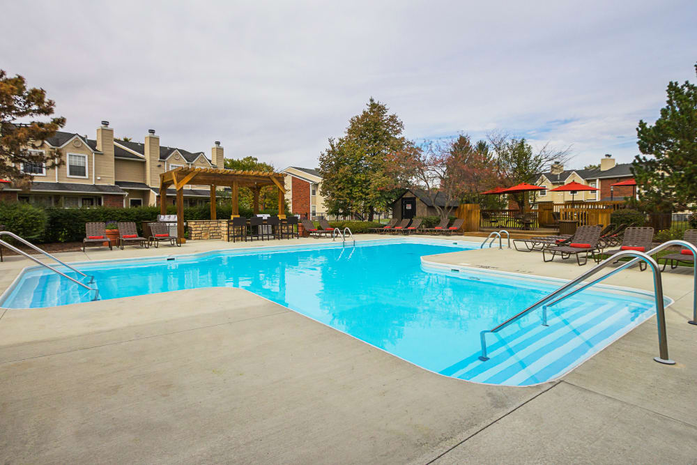 Outdoor community swimming pool at Hickory Creek in Columbus, Ohio
