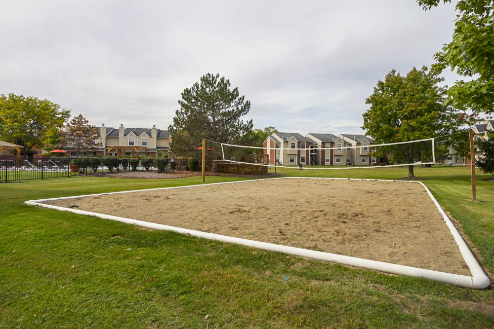 Sand volleyball court at Hickory Creek in Columbus, Ohio