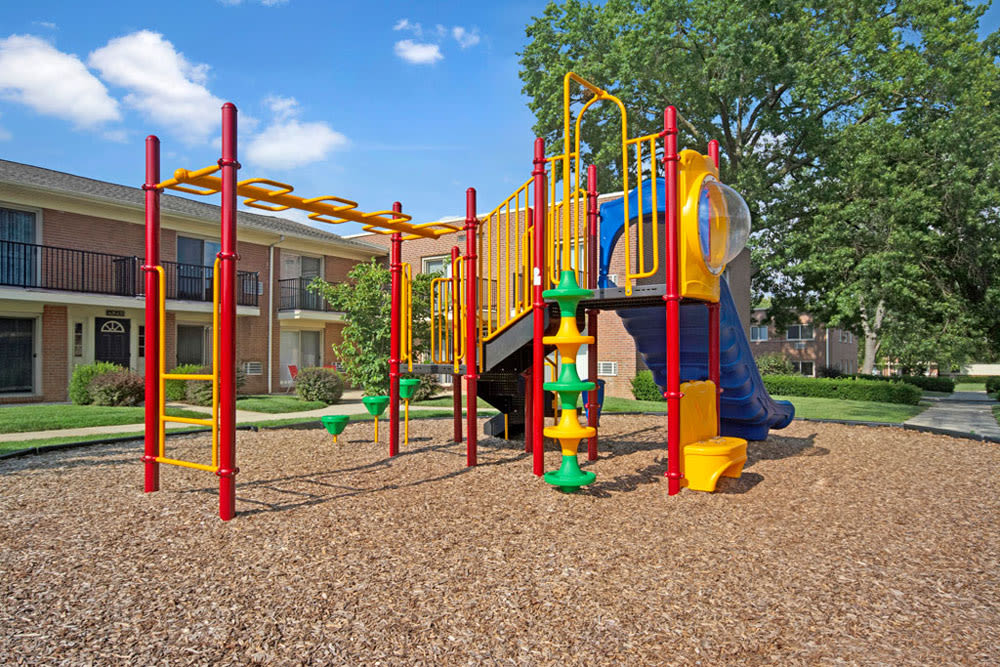 Children's playground at New Orleans Park Apartments in Secane, Pennsylvania