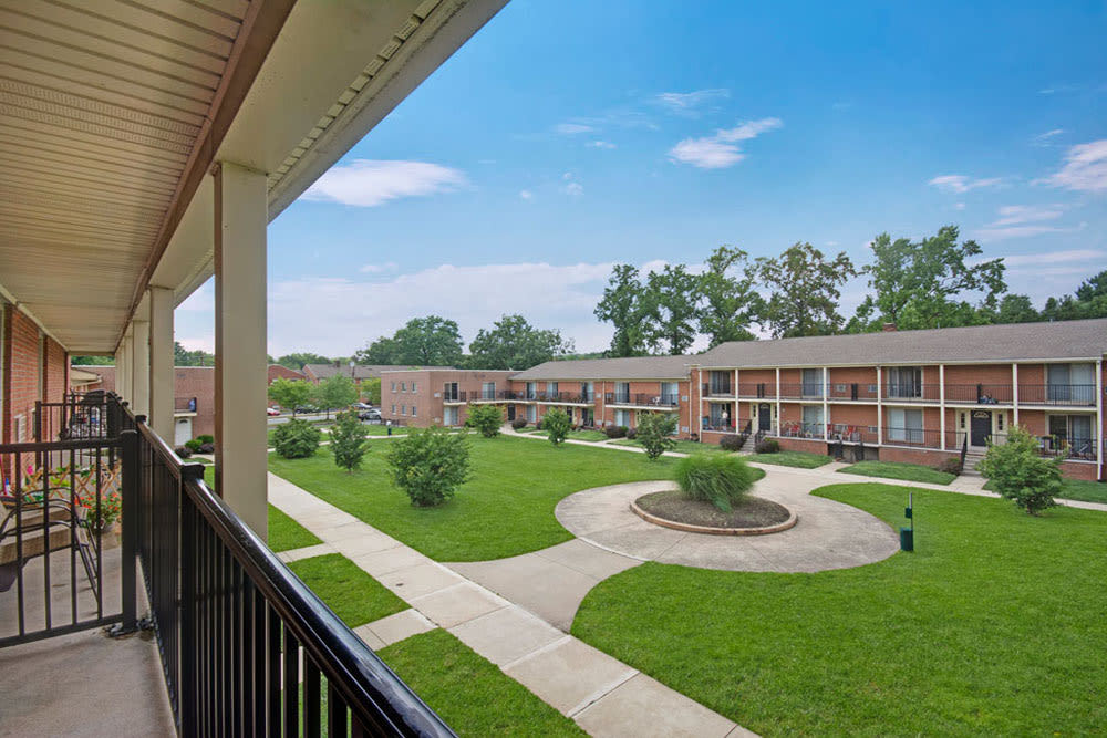 View from resident porch at New Orleans Park Apartments in Secane, Pennsylvania