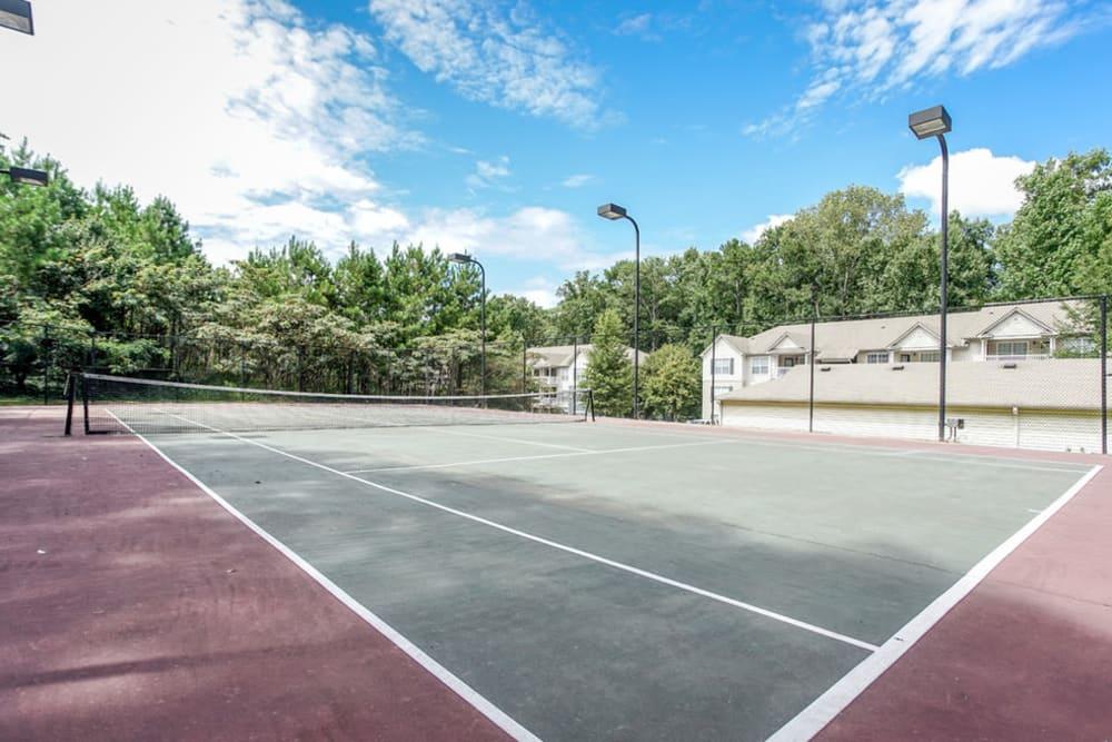 Tennis courts at Monterey Village in Jonesboro, Georgia