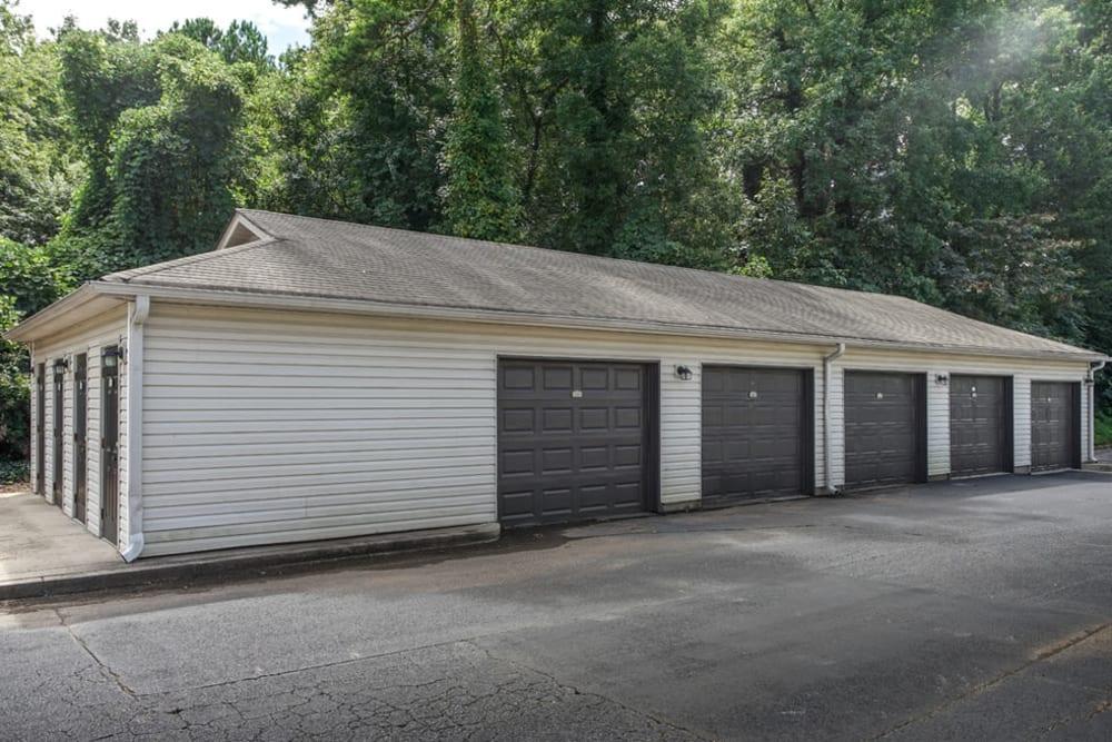 Onsite garage parking at Monterey Village in Jonesboro, Georgia