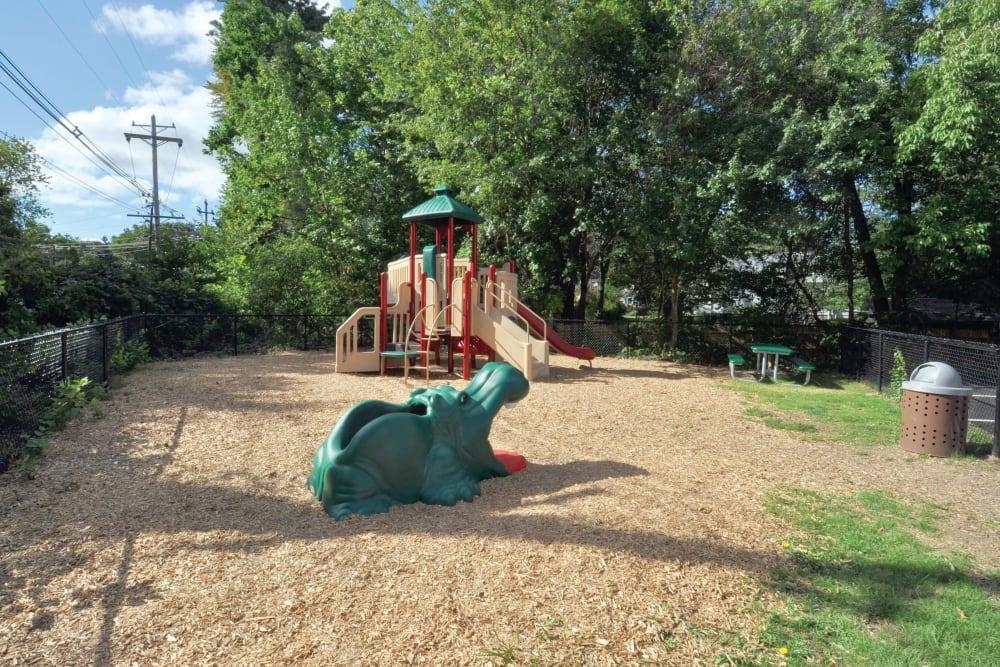 Children's playground at Middlesex Crossing in Billerica, Massachusetts