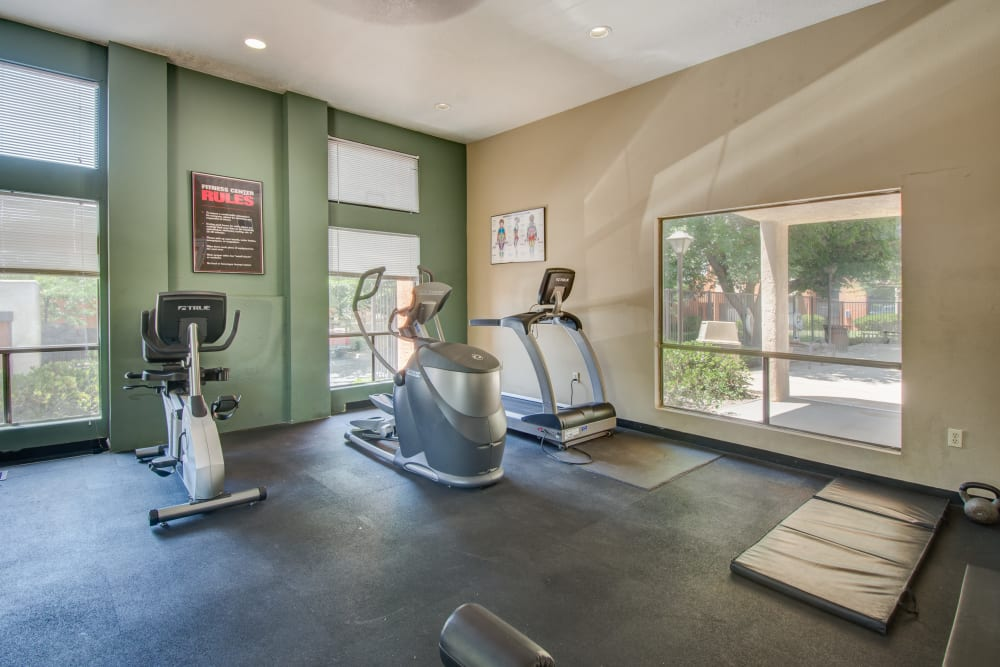 Fitness center at Mesa Del Oso in Albuquerque, New Mexico