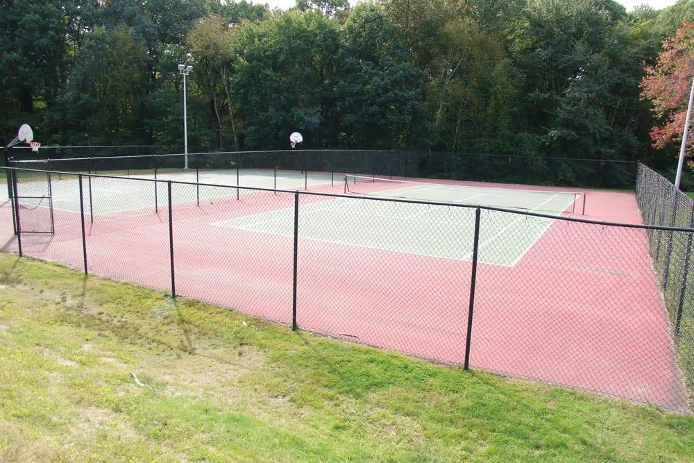 Tennis courts at Meadows at Marlborough in Marlborough, Massachusetts