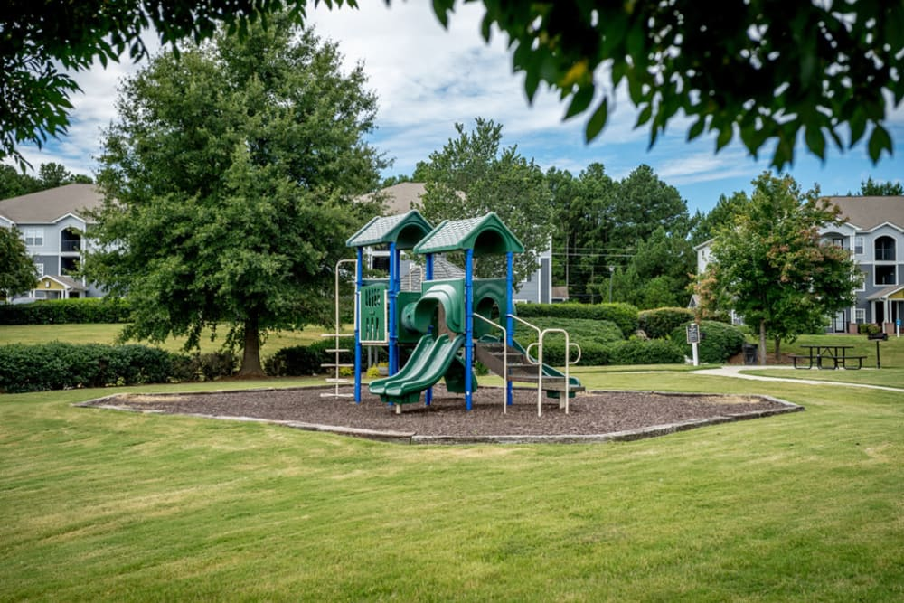 Children's playground on site at Meadow View in College Park, Georgia