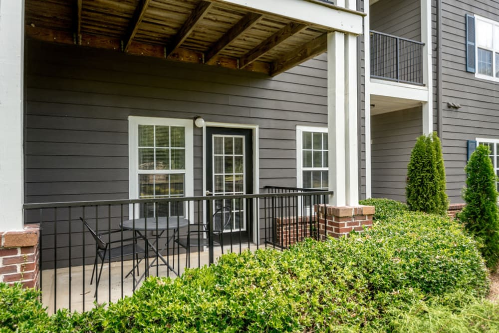 View of resident porch at Meadow Springs in College Park, Georgia