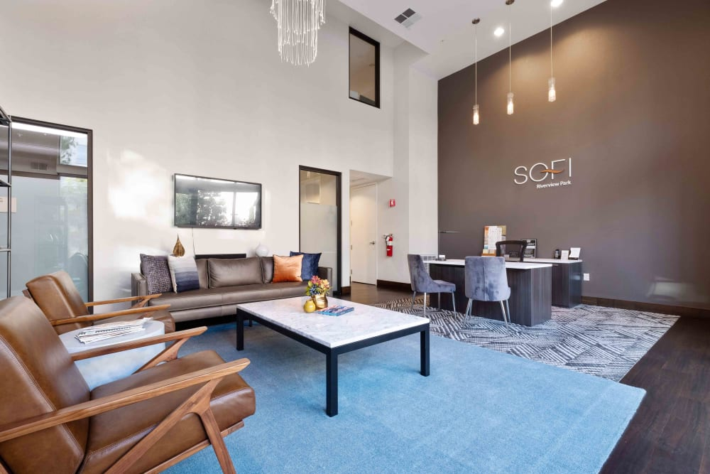Leasing office of Sofi Riverview Park