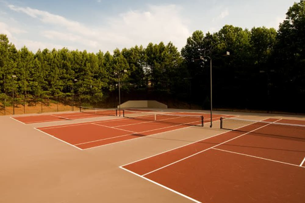 Community tennis courts located at Holland Park in Lawrenceville, Georgia