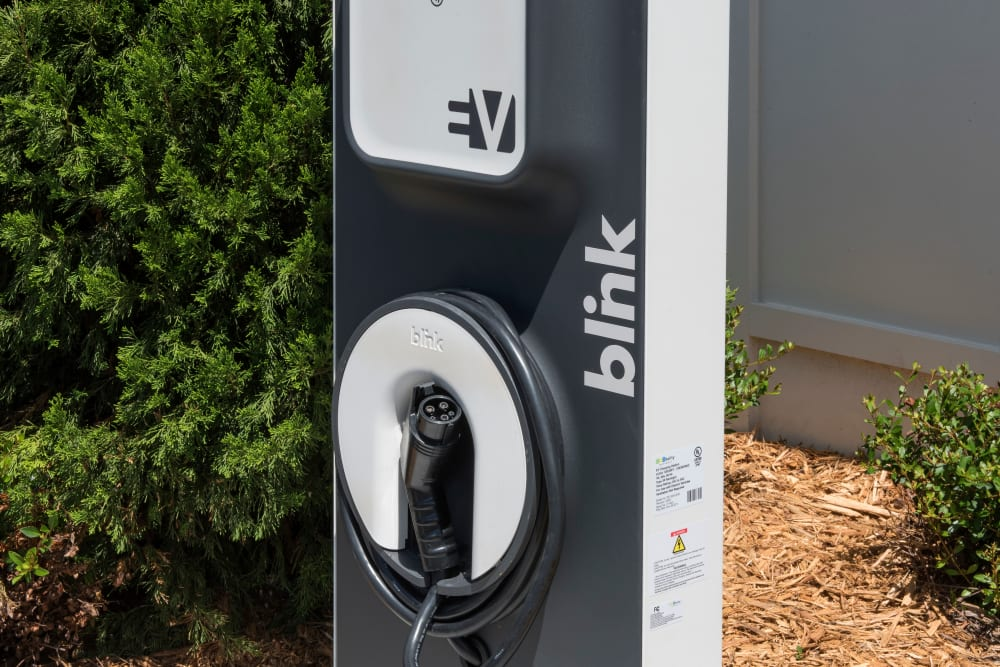 Electric car charging station at Integra Lakes in Casselberry, Florida