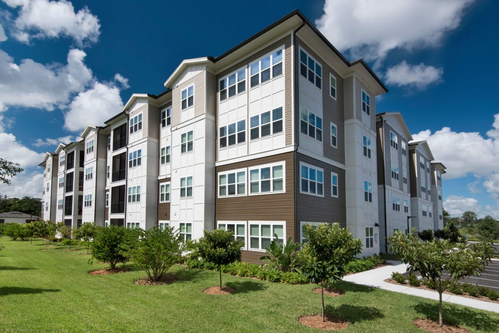 Apartment building exterior at Integra Lakes in Casselberry, Florida