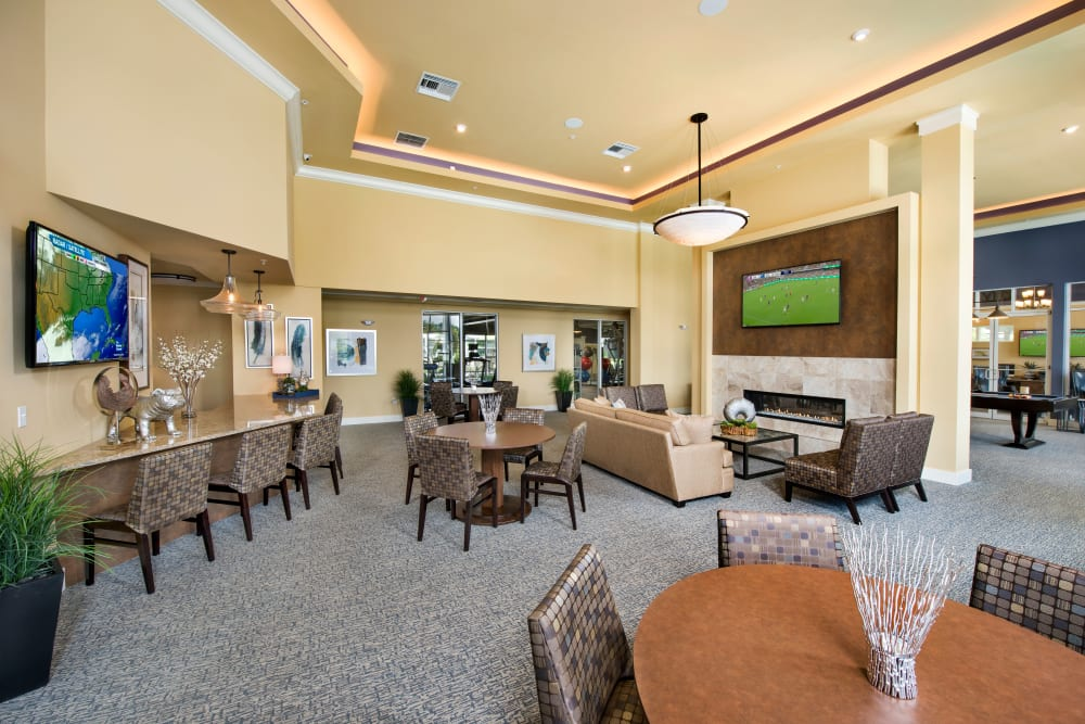 Spacious clubhouse Interior at Integra Lakes in Casselberry, Florida