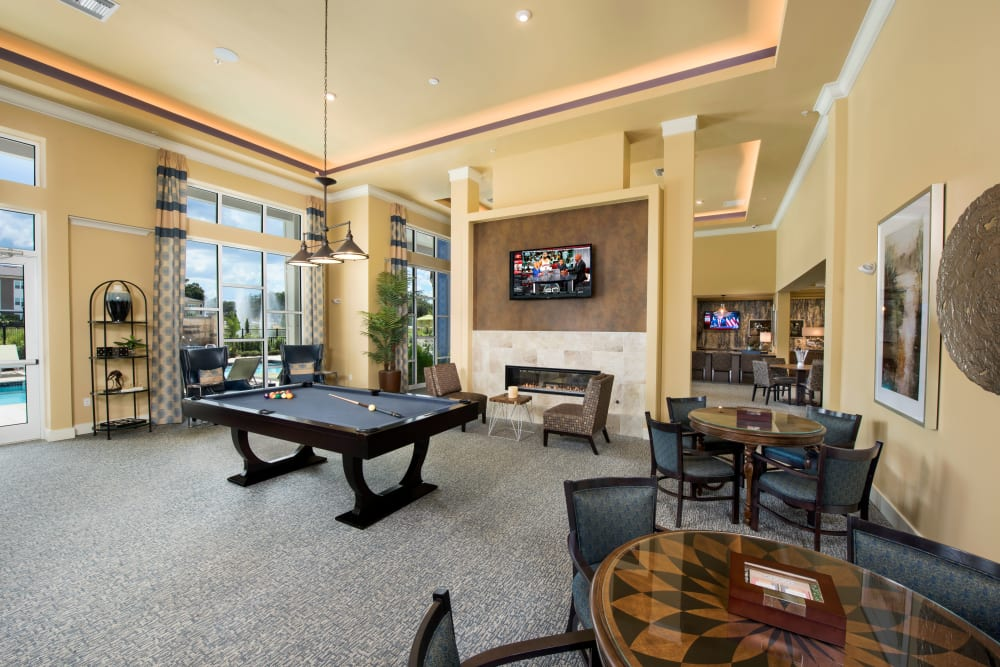Billiards table in Clubhouse at Integra Lakes in Casselberry, Florida