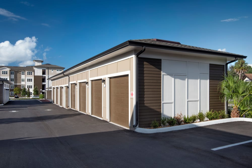 On site storage units at Integra Lakes in Casselberry, Florida