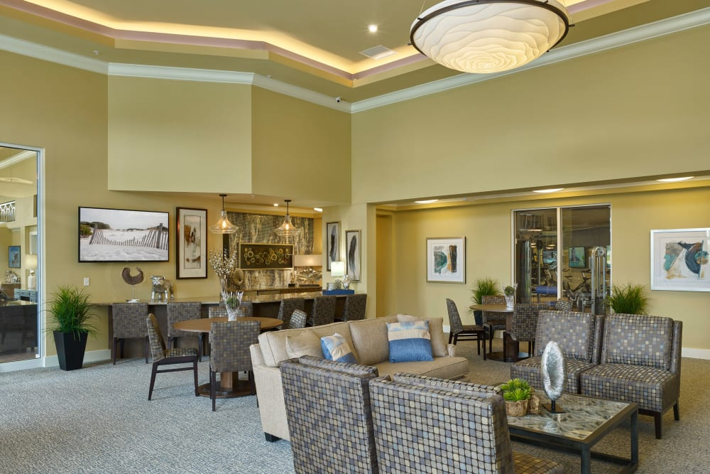 Community space in Clubhouse at Integra Lakes in Casselberry, Florida