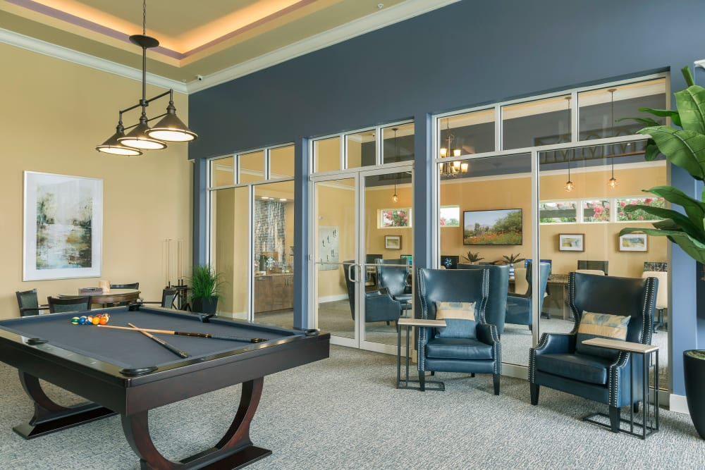 Billiards table in Clubhouse at Integra Lakes