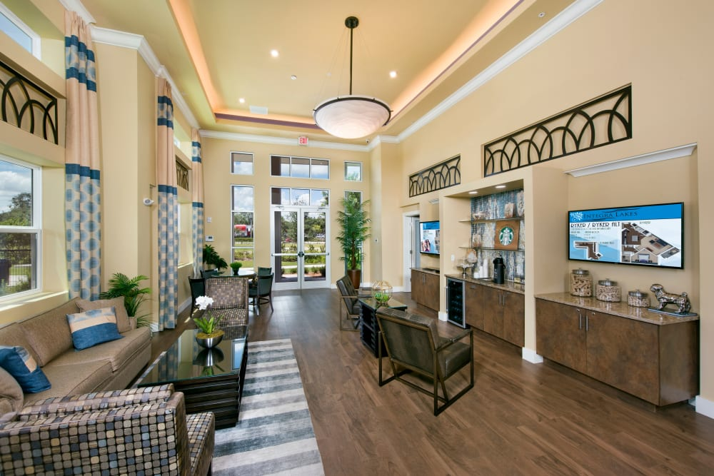 Clubhouse interior at Integra Lakes