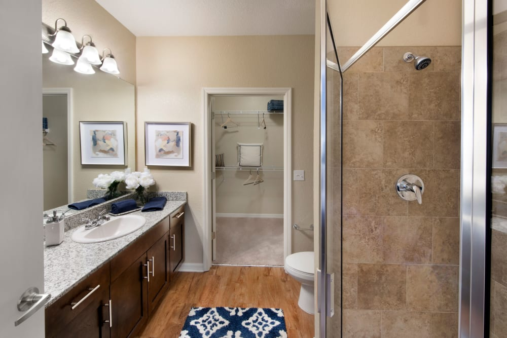 Modern Bathroom at Apartments in Casselberry, Florida