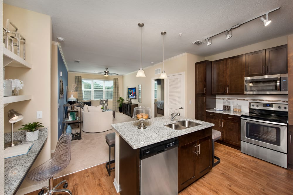 Modern kitchen at Apartments in Casselberry, Florida