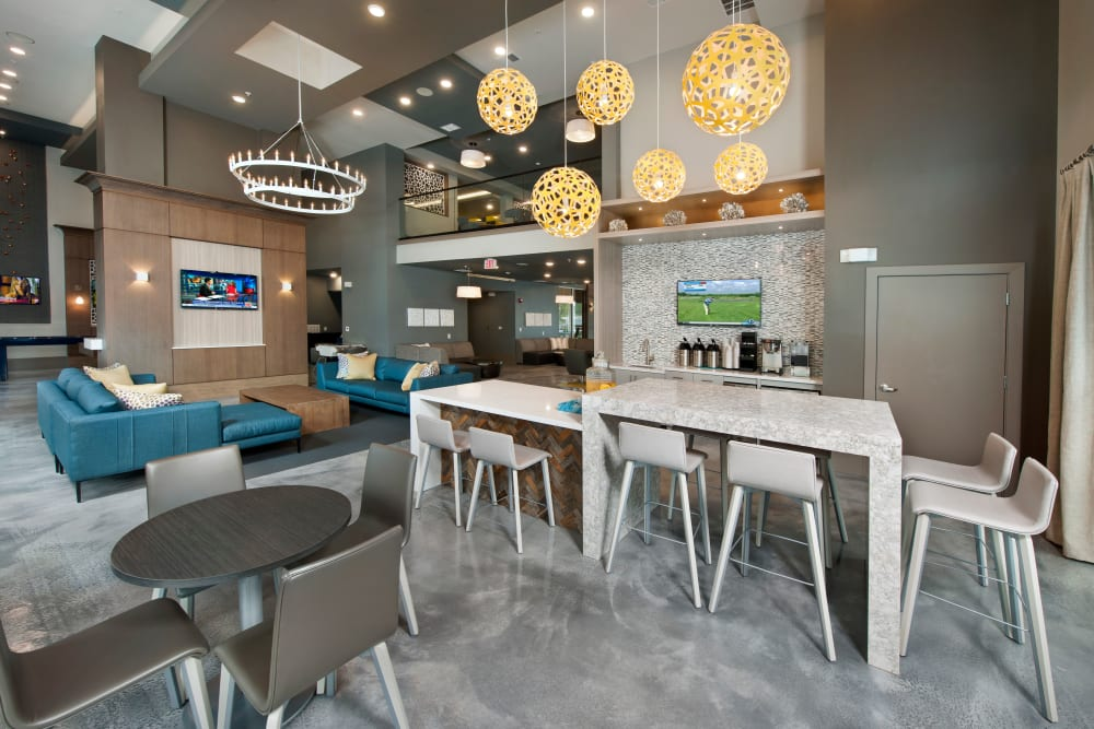 Sitting area in Clubhouse at Linden Crossroads in Orlando, Florida