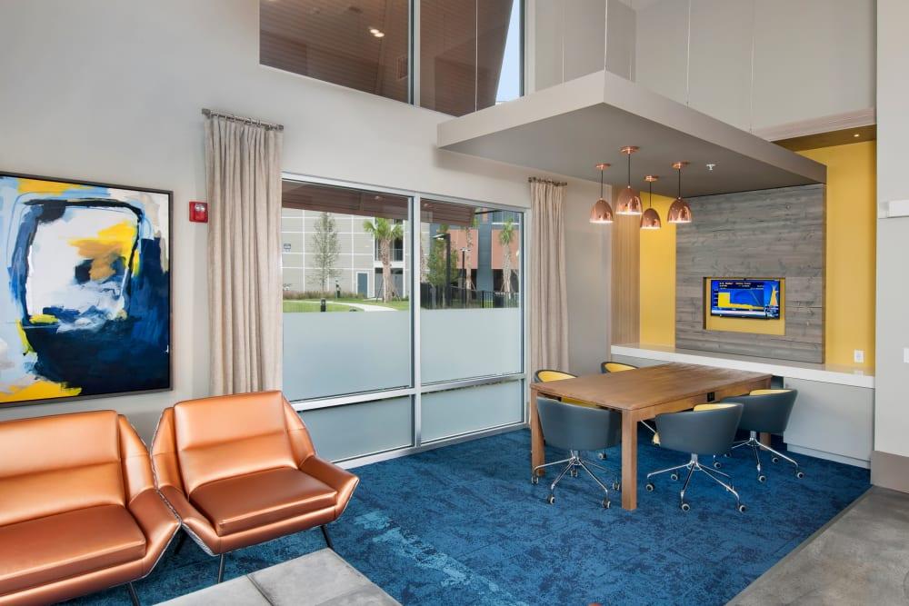Leasing office interior at Linden Crossroads in Orlando, Florida