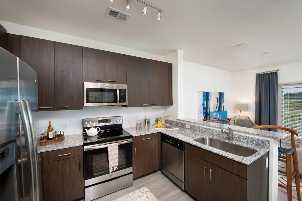 Our Unique Apartments in Orlando, Florida showcase a Kitchen