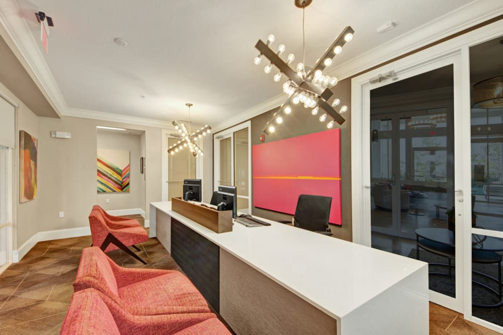 Leasing office at Linden on the GreeneWay in Orlando, Florida