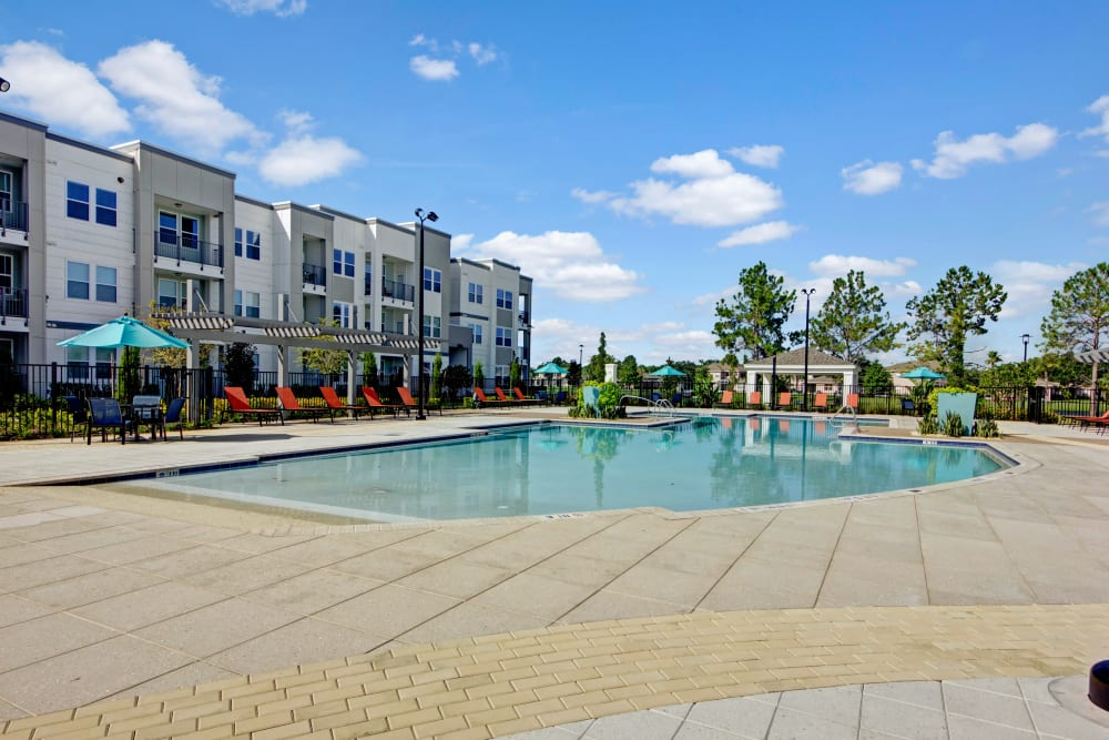 Community pool at Linden on the GreeneWay in Orlando, Florida